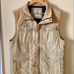 Marc Ecko Tan Puff Pocket Tan Vest Large